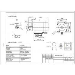 Closed Loop Nema34 Stepper Motor 34ssm1460 Ec1000 9 0n M
