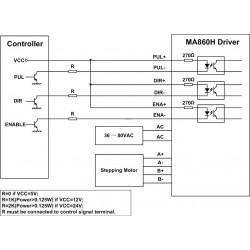 Leadshine MA860H 2 Phase Stepper Driver with 50-110 VDC or 36-80 VAC  Voltage and 2 4-7 2A